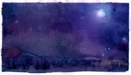 Night valley by Til-Til