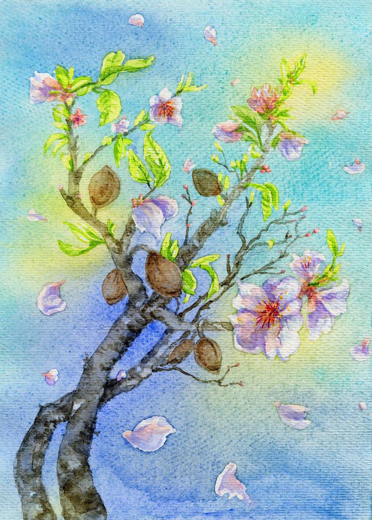 Spring Flowers - Almond by Til-Til