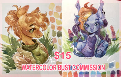 WATERCOLOR BUST COMMISSION :OPEN: by yuyusunshine