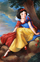 Snow White in a Landscape by ivy-alive