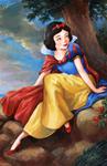 Snow White in a Landscape
