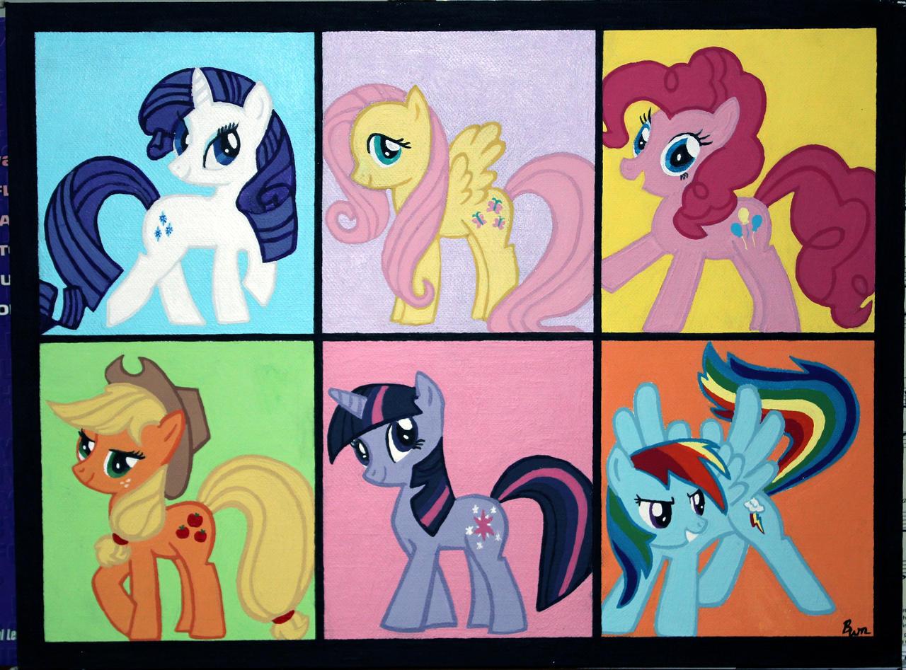 My Little Pony Acrylic Pop Art by Stargazer96