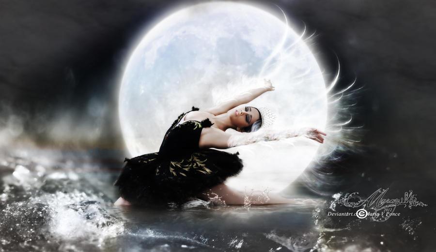 El cisne y la luna by Marazul45