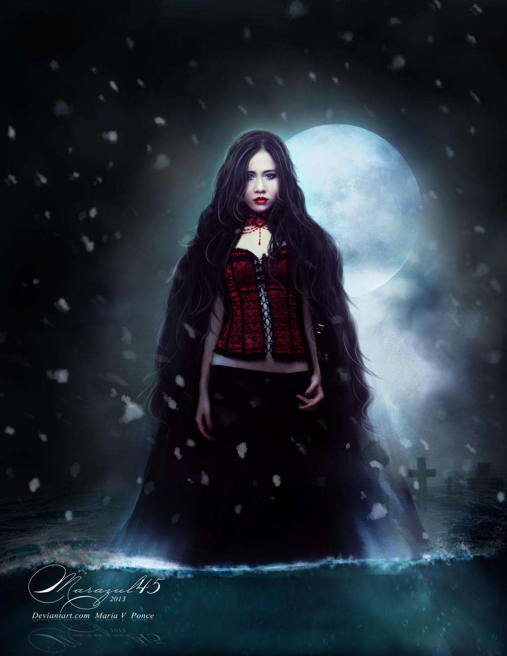 La dama de la noche invernal. by Marazul45
