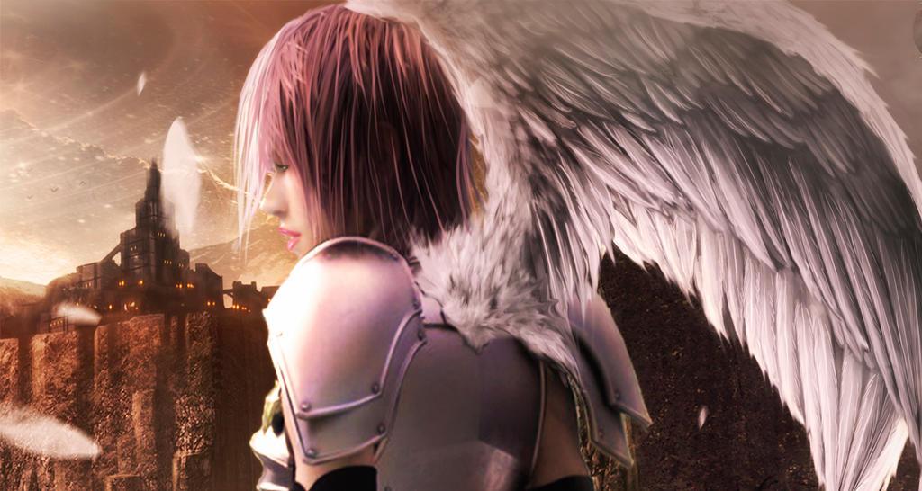 Angel de la guerra primer plano. by Marazul45