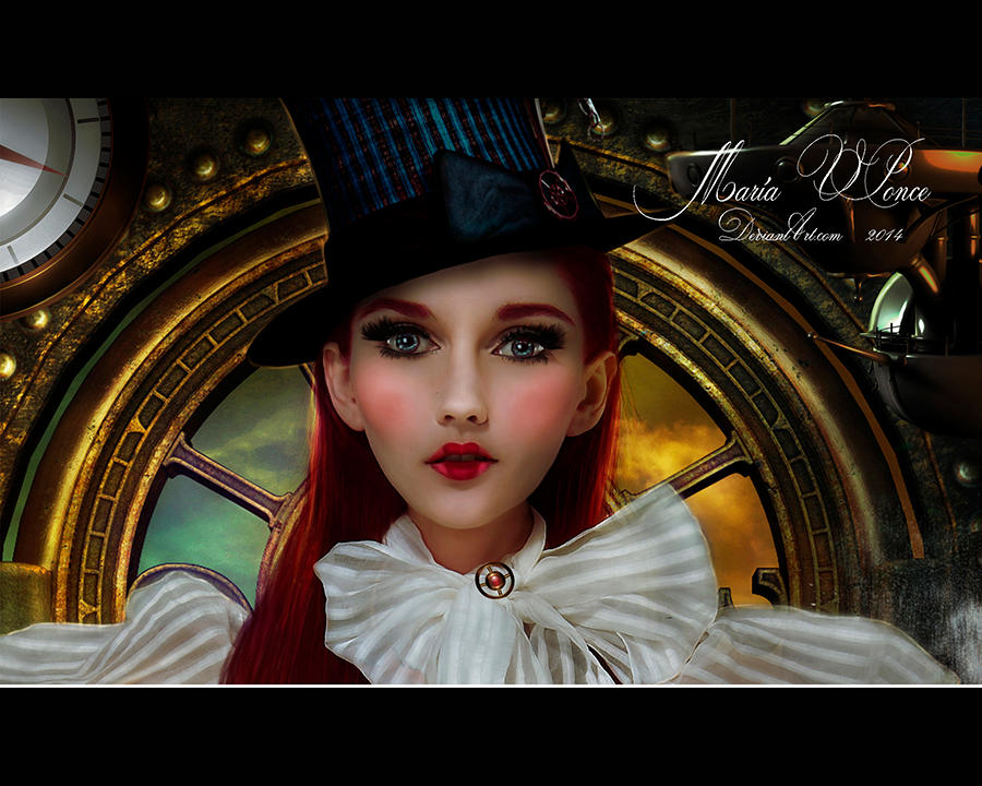 steampunk Mary-primer plano by Marazul45