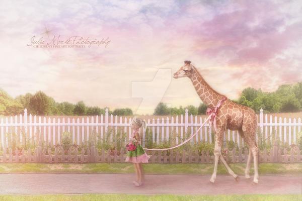 Miss G's Giraffe by juliemcgannfineart