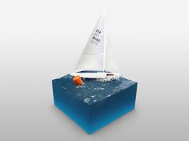 Meer mit Boot by philippdatz