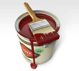 Red Paint Bucket by philippdatz