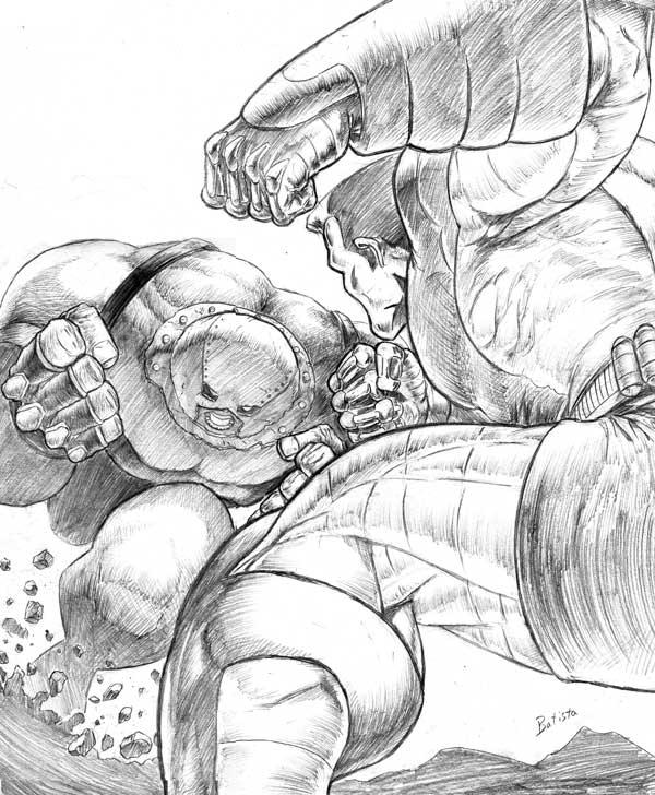 juggs vs colossus by midknight23