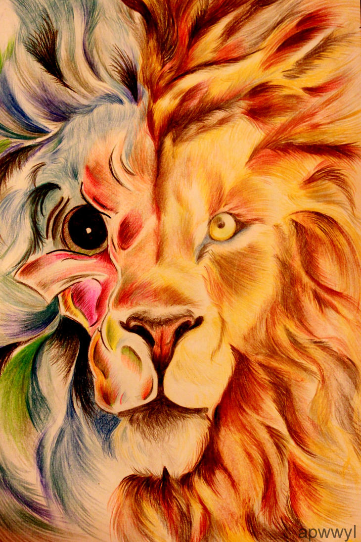 Two faced lion. by TwofacedDesigns