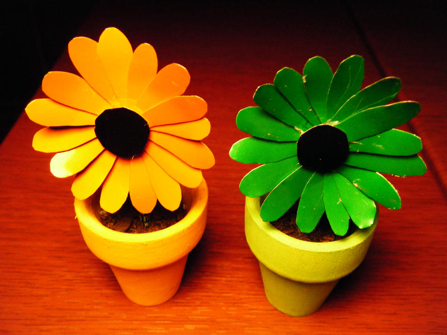 Recycled Soda Can Daisies by Christine-Eige