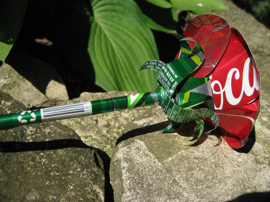 Recycled Soda Can Rose by Christine-Eige