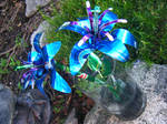 Recycled Pop Can Lg Blue Lily3 by Christine-Eige
