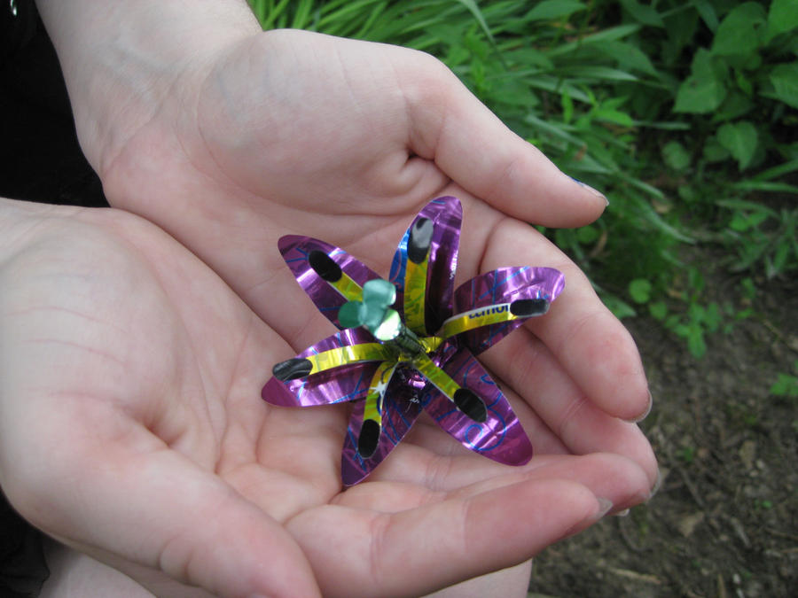 Recycled Pop Can Hair Clip5 by Christine-Eige