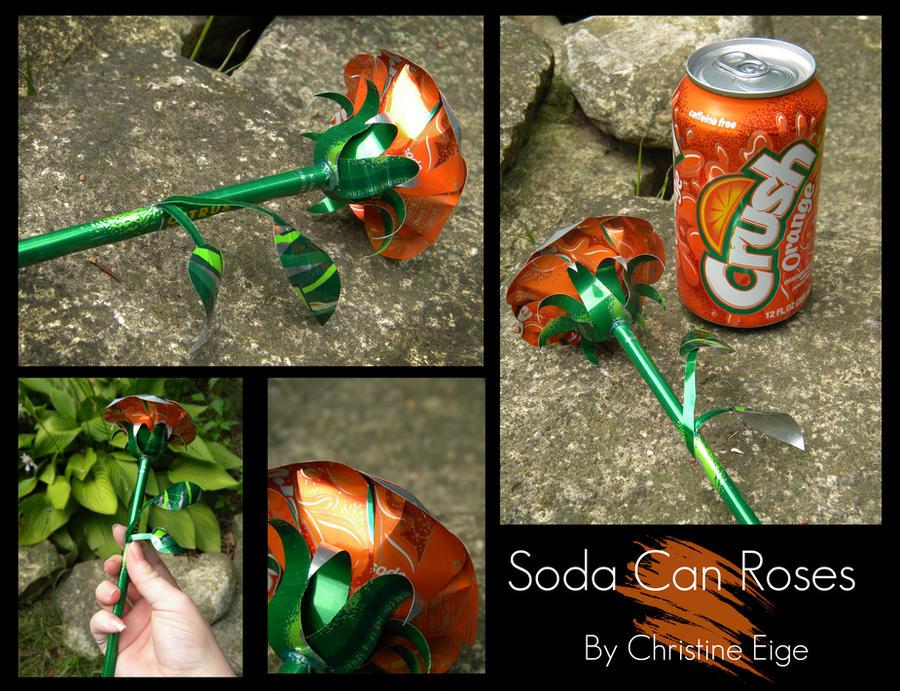 Soda Can Rose - Orange Full by Christine-Eige