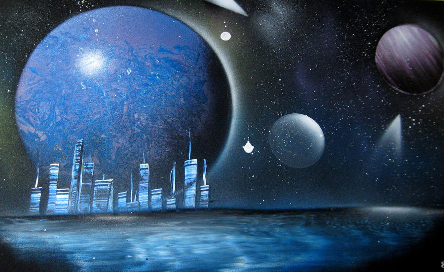 space painting 008 cityscape2 by christine eige on deviantart. Black Bedroom Furniture Sets. Home Design Ideas