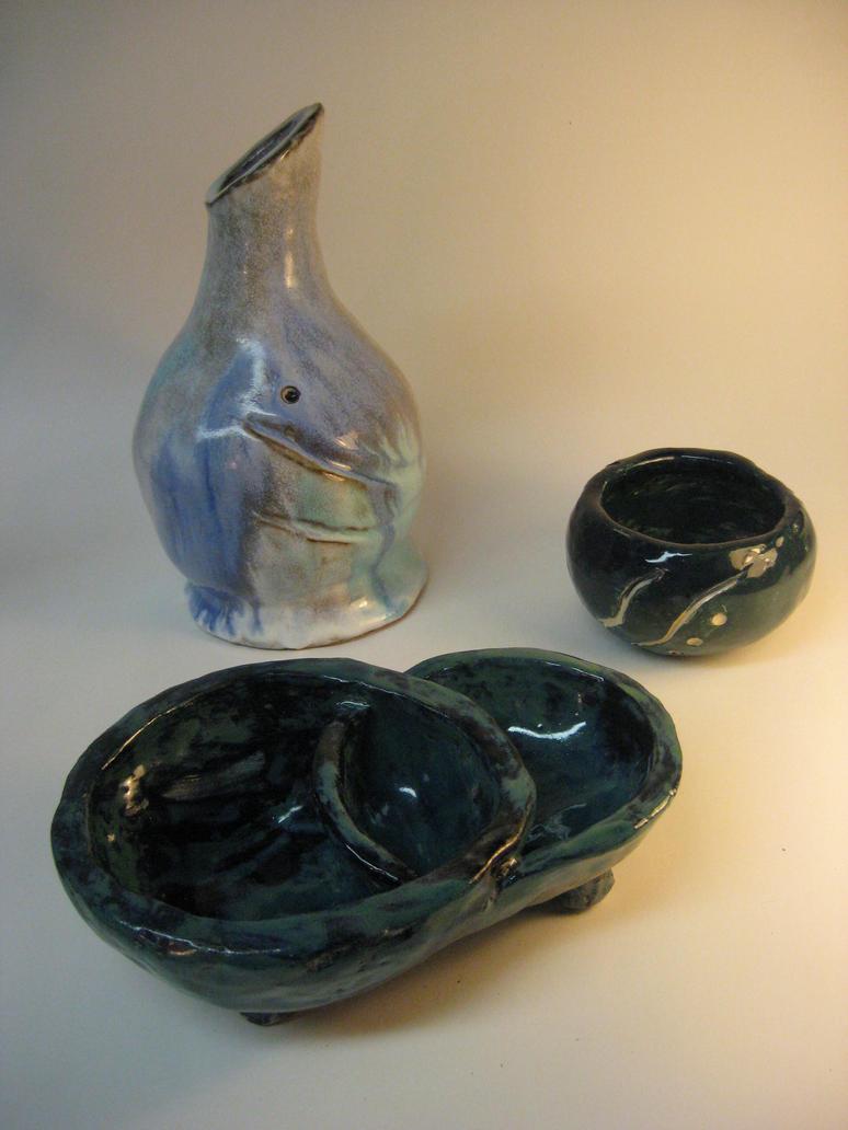 Ceramics - Pinch Pots by Christine-Eige
