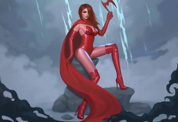 Scarlet Witch by janunolart