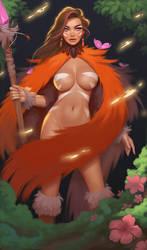 Forest sorceress by janunolart