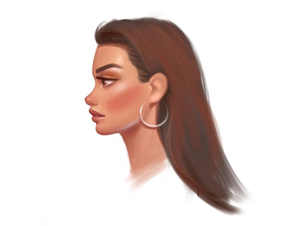 Stylized face 2 by janunolart