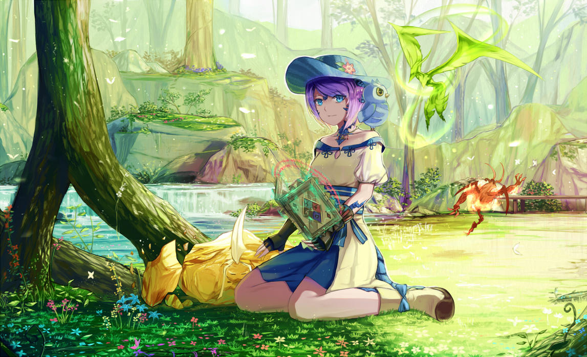 Comm: Springtime Summoner by natsumoka