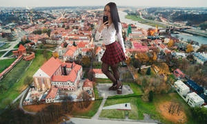 Rich giantess on cell by giantesslover1986