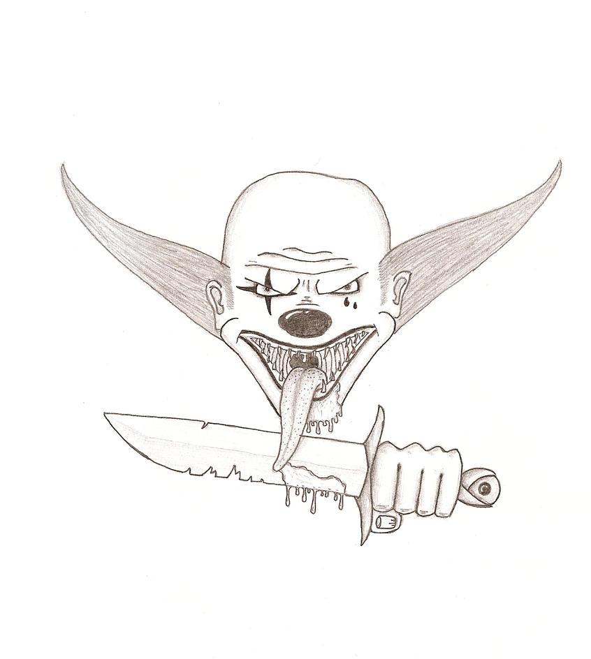 Scary Clown Drawing: Evil Clown By Bingo00 On DeviantArt