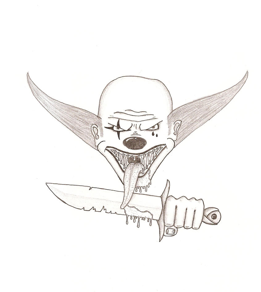 Evil clown drawings step by step