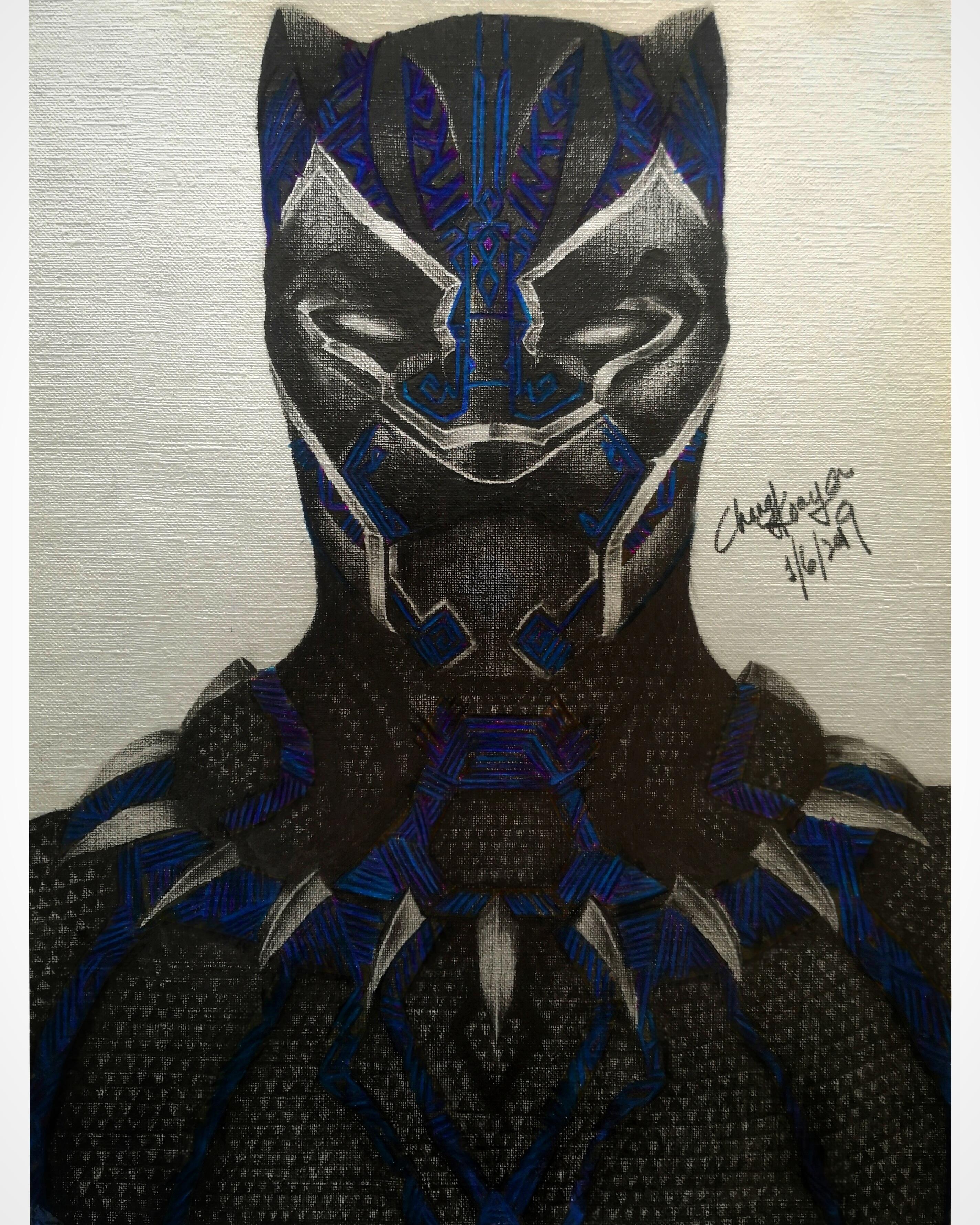 Black Panther Drawing By Chongkoayarts On Deviantart