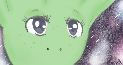 Cindy the Alien by tinyrutabaga