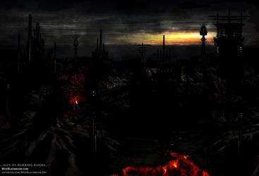 The City of Burning Rivers | Album Art by modblackmoon