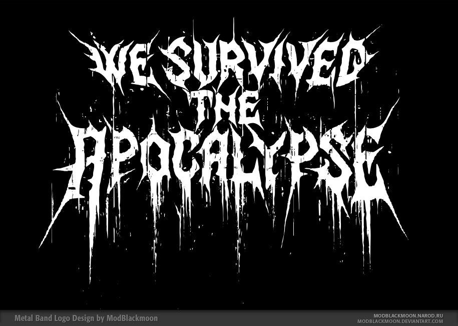 We Survived the Apocalypse Logo by modblackmoon