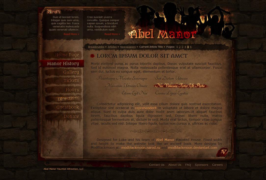 Abel Manor Website Preview