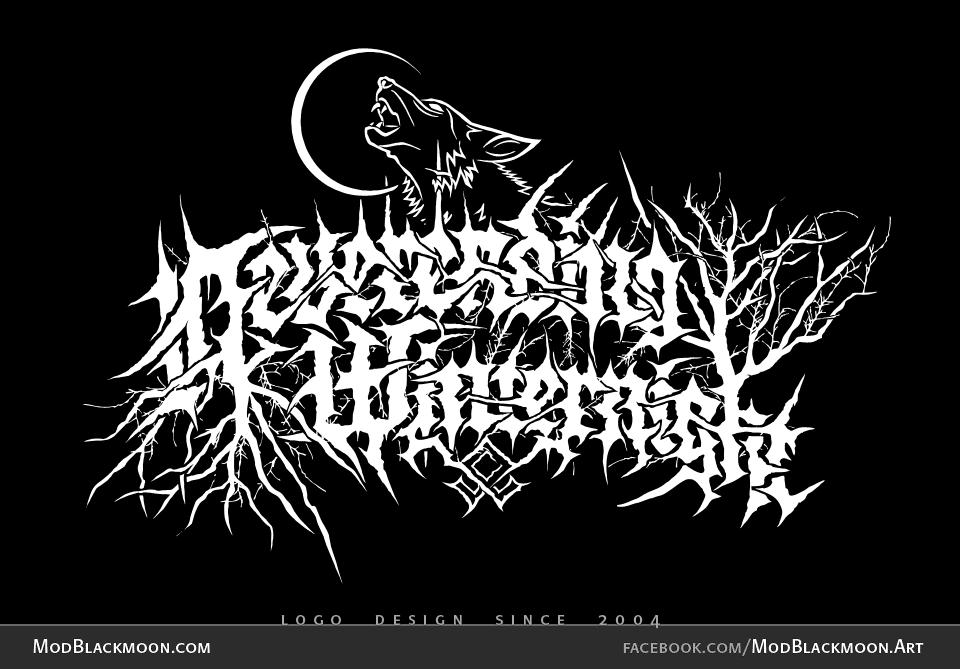 Neverending Winternight   Black Metal Logo Design