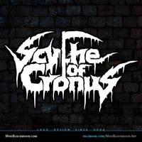 Scythe of Cronus Death Metal Band Logo Design by modblackmoon