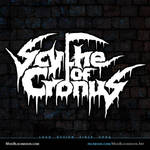 Scythe of Cronus Death Metal Band Logo Design