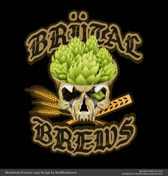 Brutal Brews | Metalhead Logo Design