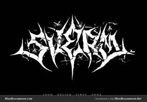SVERM Punk Black Metal Band Logo Design by modblackmoon