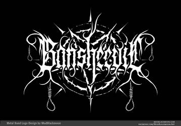 Bansheevil - Black Metal Band Logo Design by modblackmoon