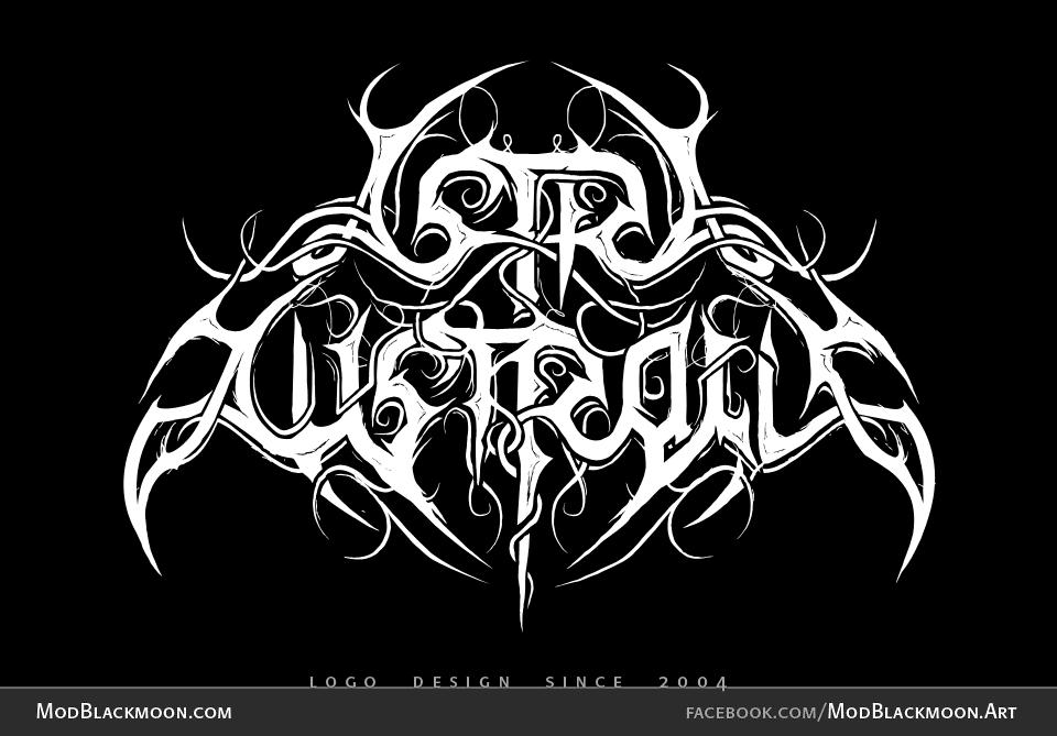 Astra Australis - Black Metal Logo Design by modblackmoon