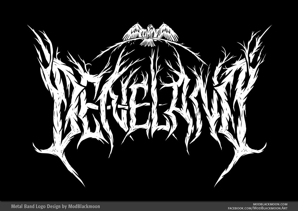 DENELAND - Pagan Black Metal Band Logo Design by modblackmoon