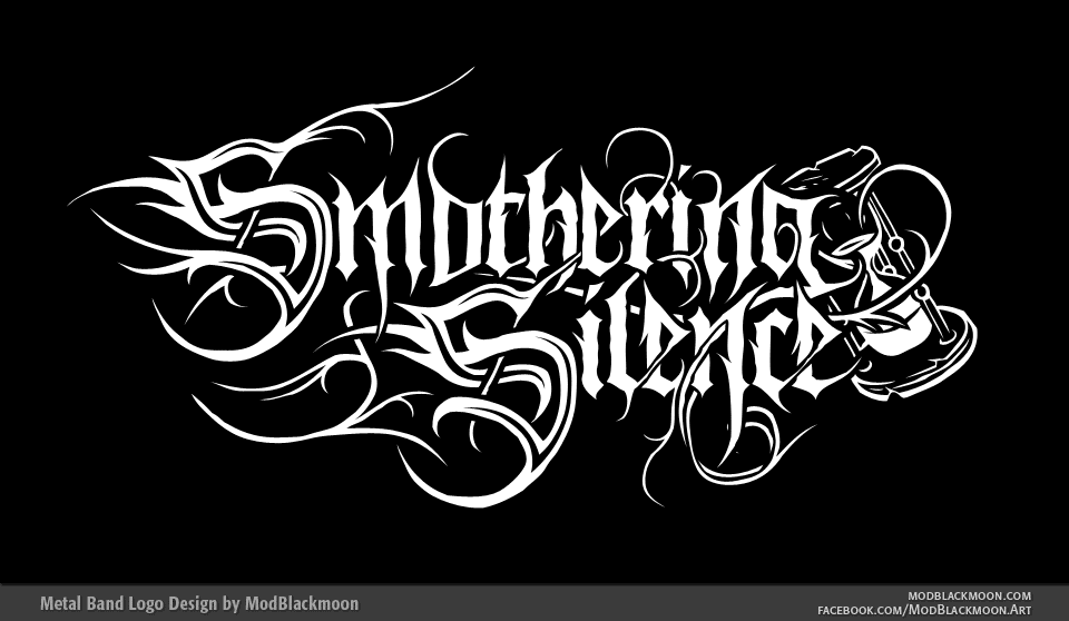 Smothering Silence - Dark Metal Band Logo Design by modblackmoon