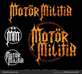 Thrash Metal Band Logo Design - Motor Militia