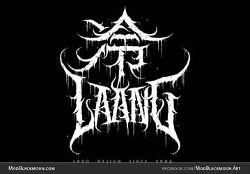 Black Metal Logo Design - Laang by modblackmoon