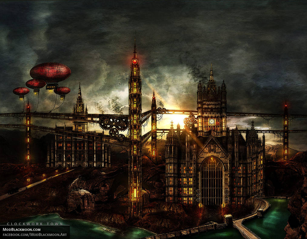 Clockwork Town | Metal Album Artwork by modblackmoon