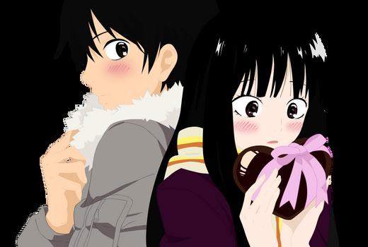 Kazehaya and Sawako's valentine