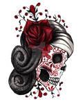 Red Rose Sugar Skull