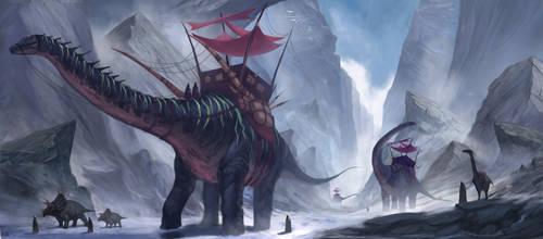 Dinosaurs! by MelvinChanArt