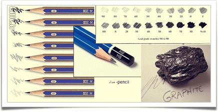 همه چیز دربارهٔ مداد طراحی